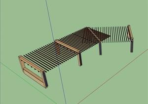 园林景观详细完整的廊架SU(草图大师)模型
