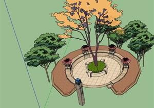 种植树池及花钵素材设计SU(草图大师)模型