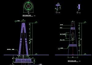 详细的园林景观灯柱设计cad施工图