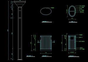 详细的垃圾桶设计cad施工图