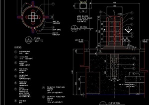 路灯柱设计cad施工图
