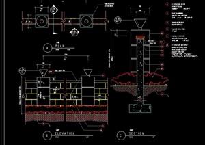 现代详细的灯柱设计cad施工图