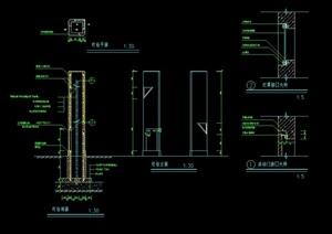 园林详细灯柱素材设计cad施工图