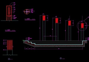 详细的景观灯柱cad施工图