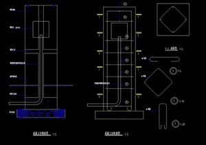 园林景观独特灯柱设计cad施工图