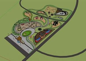 童趣乐园儿童游乐场活动场模型