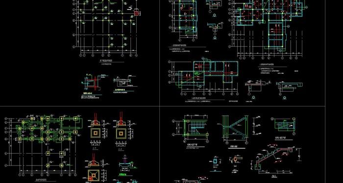现代简约构成式木材白墙暖色调私人住宅别墅模型su cad设计图施工大样图套图(10)