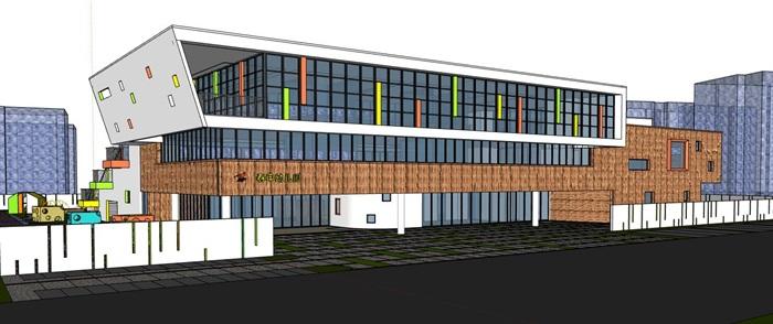 现代创意立体台阶式绿化屋顶活动平台幼儿园托儿所设计(6)