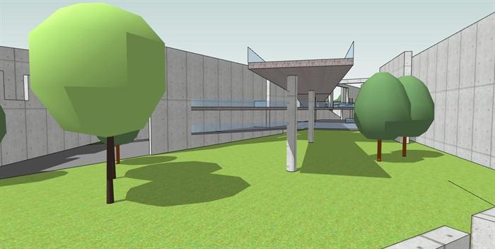 几何分割构图现代大型创意城市绿地公园市民休闲活动广场(2)