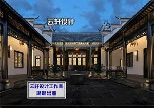 四合院、古建筑设计效果图全套3D模型