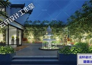 中式庭院设计全套3D源文件