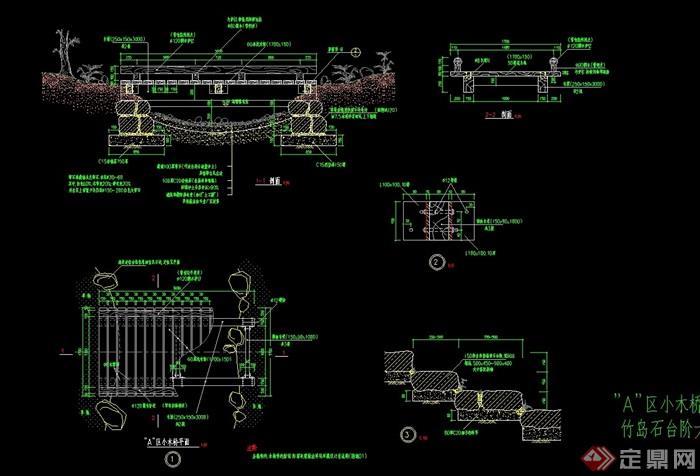 素材详细的结识桥园林v素材cad施工图哪能过河好的机械设计师图片