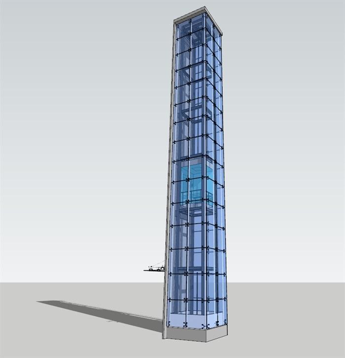 点抓玻璃观光电梯(3)