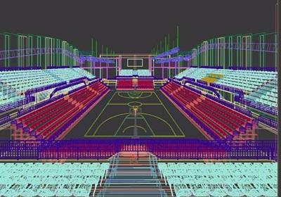 篮球馆详细的室内3d模型