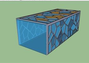 现代风格玻璃入口廊架SU(草图大师)模型