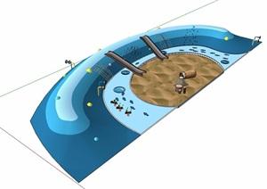 游乐场地及设施素材设计SU(草图大师)模型