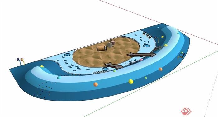 游乐场地及设施素材设计su模型