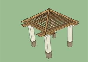 园林景观廊架亭SU(草图大师)模型