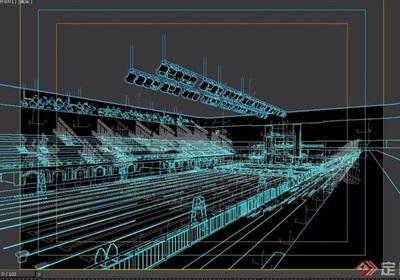 游泳馆简单设计3d模型