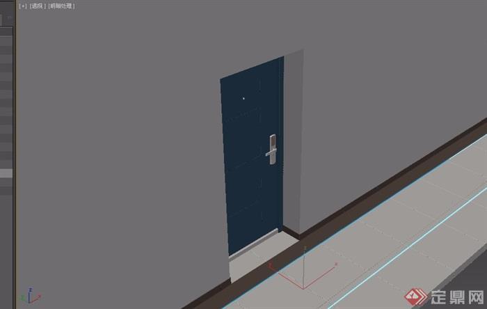 园林景观详细门设计3d模型