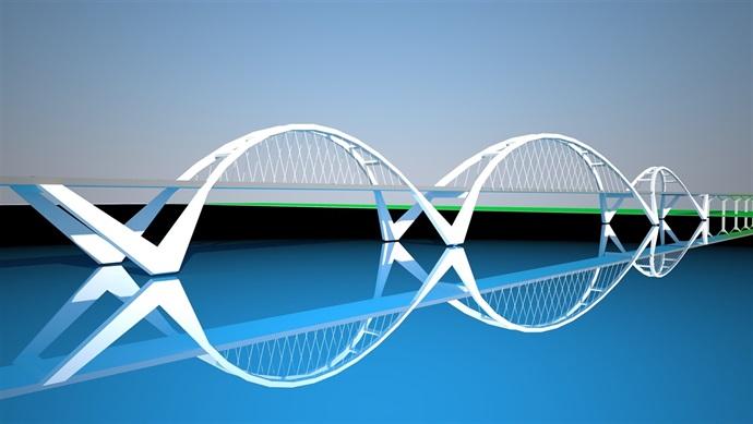 某市索拱结构大桥造型设计