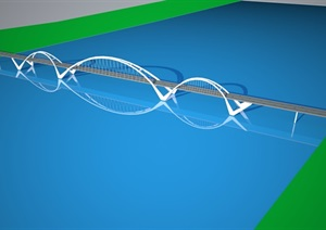 两个大型桥梁造型设计sketch up模型