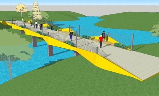 景观桥方案一