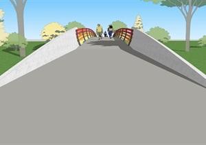 ?#22278;?#34425;为主题的景观桥造型设计模型