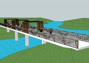 景观桥造型设计(春桥  栖息桥 鸟崇拜 青铜神树 鸾鸟凤鸟)