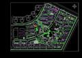 现代居住小区规划cad总平面图