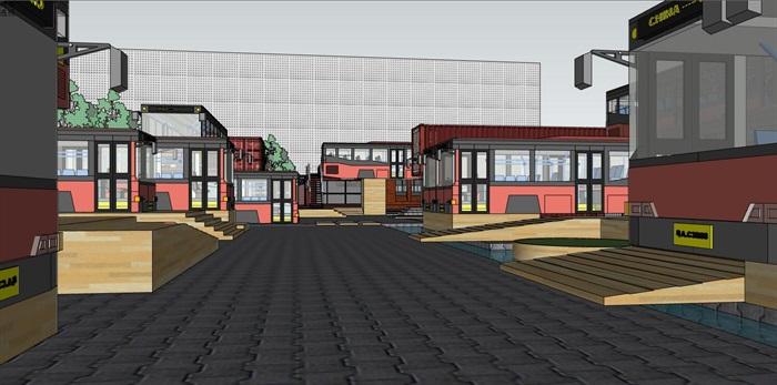 集装箱改造公交车主题文化创意活动街区公园(3)