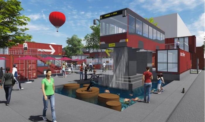 集装箱改造公交车主题文化创意活动街区公园(5)