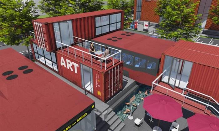 集装箱改造公交车主题文化创意活动街区公园(8)