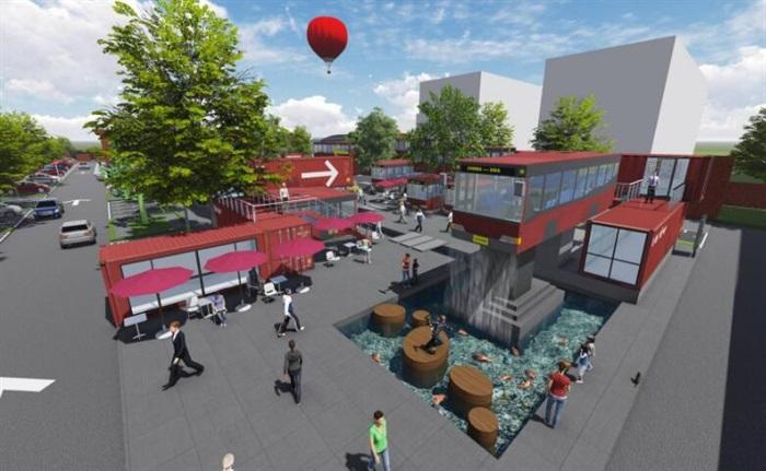 集装箱改造公交车主题文化创意活动街区公园(7)