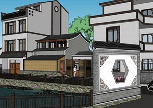 新农村建设生态乡村商业旅游改造民俗文化步行街民宿餐厅