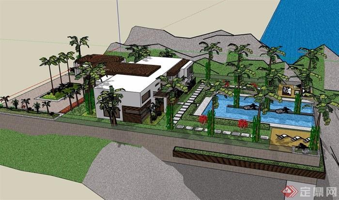 某私人住宅别墅建筑模型