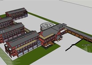 欧式经典高端英式贵族中小学校校园规划