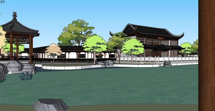 中式仿古古典园林式旅游景观景区(4)