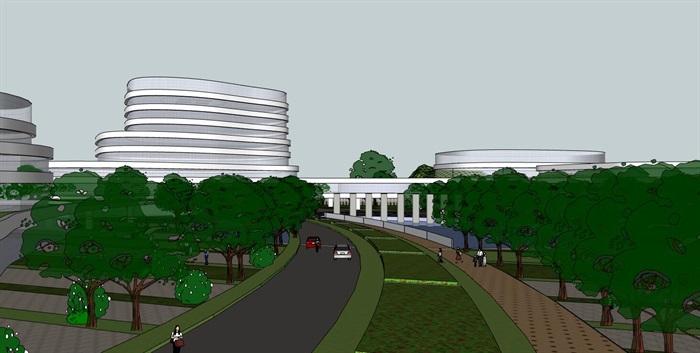 现代创意参数化流线曲线形体文化产业园创业办公基地总部规划设计(2)