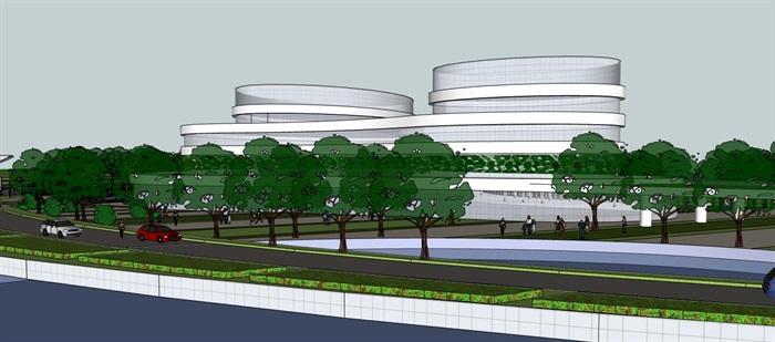 现代创意参数化流线曲线形体文化产业园创业办公基地总部规划设计(4)