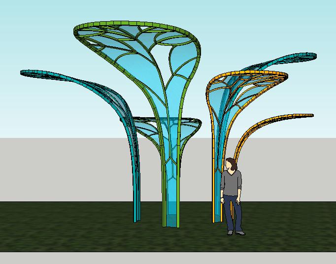 树叶雕塑(1)