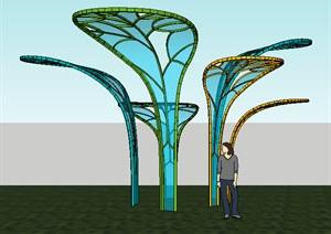 现代自然雕塑——树叶雕塑
