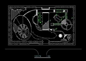 广场规划设计cad方案图