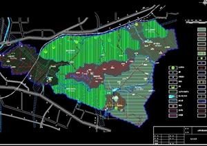 公园规划设计cad总图