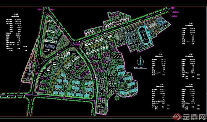 某住宅小区景观规划cad平面图