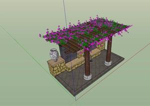园林景观休闲花架素材设计SU(草图大师)模型