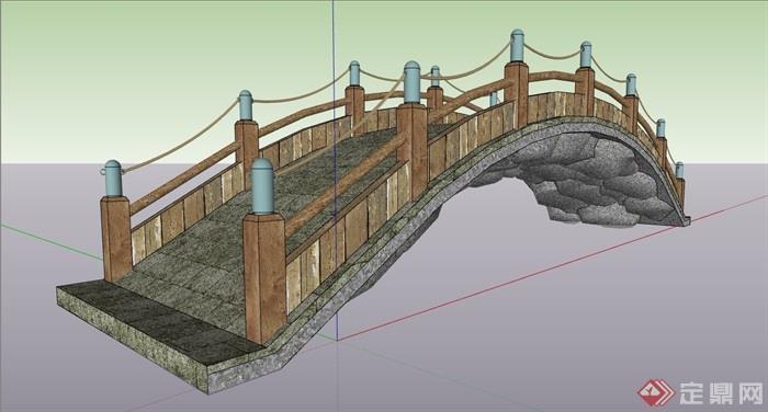 园林景观宝宝过河园桥素材设计su经典模型数字设计图片素材图片
