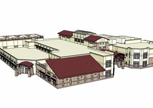欧式风格两层商场设计SU(草图大师)模型