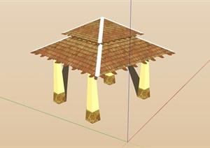 欧式详细完整的亭子SU(草图大师)模型