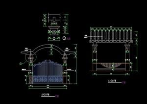 欧式风格入口门廊素材设计cad施工图